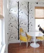 photo wallpaper in room